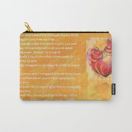 We Two Are One Prose Valentine Greeting Carry-All Pouch