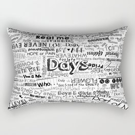 Under the same sky... (Black) Rectangular Pillow