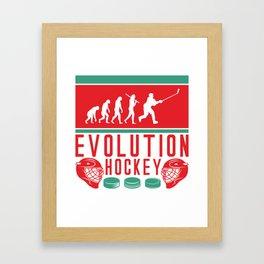 Evolution Hockey Framed Art Print