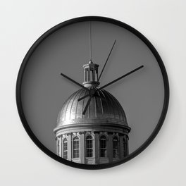 Silver Tower Wall Clock