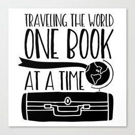 Traveling the World One Book at a Time V2 Canvas Print