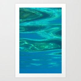 Below the surface - underwater picture - Water design Art Print