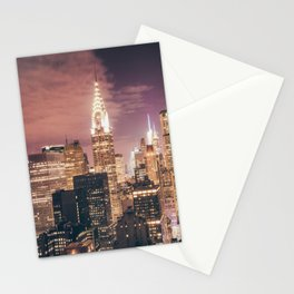 New York City - Chrysler Building Lights Stationery Cards