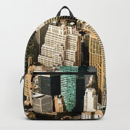 New York City Aerial View (Color) Backpack