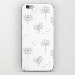 Dandelions in Grey iPhone Skin