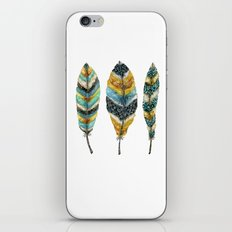 Midnight Feather Trio iPhone & iPod Skin