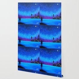 Far city under the stars Wallpaper