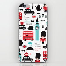 London icons illustration pattern print iPhone & iPod Skin