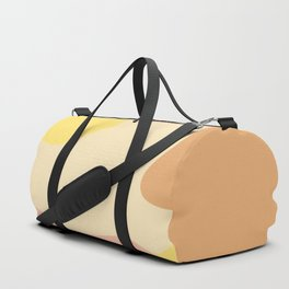 The Sun Rises behind the pastel mountains Duffle Bag
