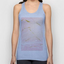 Rose Gold Marble Burst Unisex Tank Top