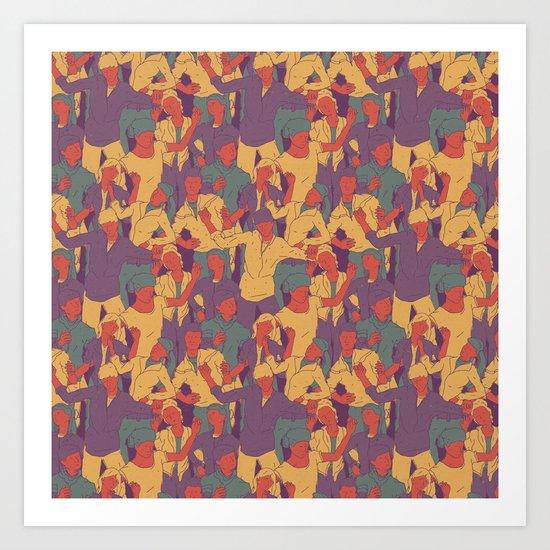 Rave from nineties Art Print