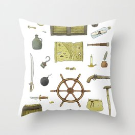 Pirated Throw Pillow