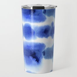 Indigo Watercolor Pattern 13 Travel Mug