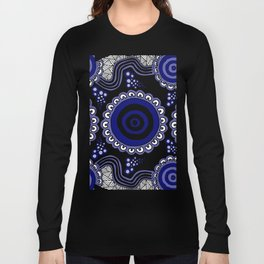 Authentic Aboriginal Artwork - Connections Long Sleeve T-shirt