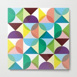 Geometric Pattern #102 (colourful pastels) Metal Print