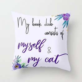 My Book Club Throw Pillow