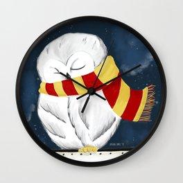 Sleepy Hedwig Wall Clock