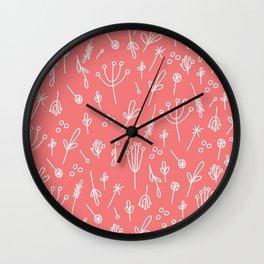 Dandelion Fields (peach) Wall Clock