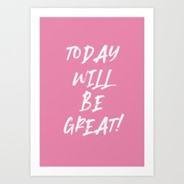 motivational quote - summer quote Art Print