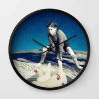 chicken Wall Clocks featuring Chicken by Cs025