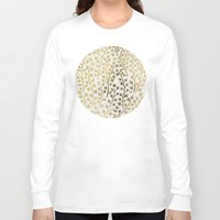 golden Long Sleeve T-shirts featuring Gold Ivy by Cat Coquillette