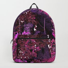 Pink red alien planet tree bright Backpack