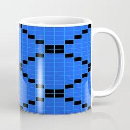 Blue and Black Grid Crosstile Coffee Mug