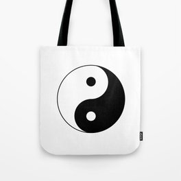 Black and White Yian Yang Tote Bag