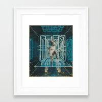 neon Framed Art Prints featuring Neon by Imogen Art