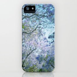 Jacaranda Canopy iPhone Case