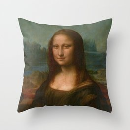 Mona Lisa Classic Leonardo Da Vinci Painting Throw Pillow