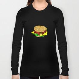 Cheeseburger Doodle Long Sleeve T-shirt