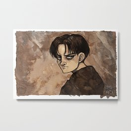 Coffee Painting - Levi Metal Print