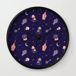 Witch pattern Wall Clock