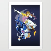 Zelda and Sheik  Art Print
