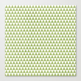 triangles -green and white Canvas Print