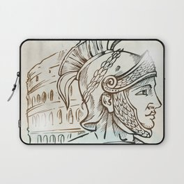 roman warrior on colosseum background Laptop Sleeve