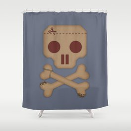 Paper Pirate Shower Curtain