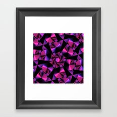 Abstract 344 a berry and black kaleidoscope Framed Art Print