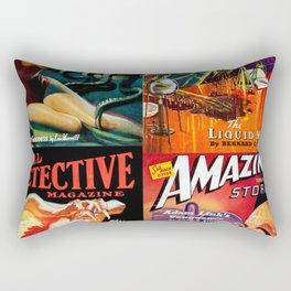 Pulp Tastic  - Vintage Pulp  Magazine Art Print Rectangular Pillow
