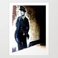 Officer Painted Against Wall Art Print