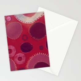 Red potpoury Stationery Cards
