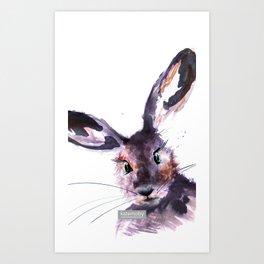 Inky Hare Art Print