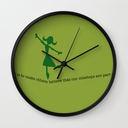 misstep dance Wall Clock