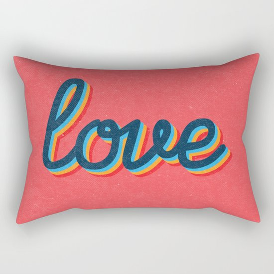 Love - pink version Rectangular Pillow