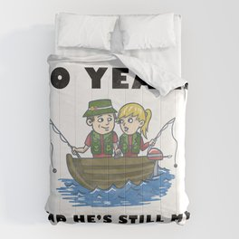 Anniversary 30 Couple Fishing Wife Husband Gift Comforters