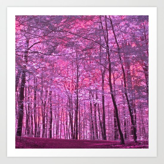 purple forest V Art Print