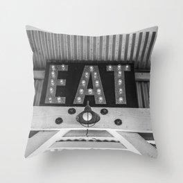 Eat Cayucos Throw Pillow