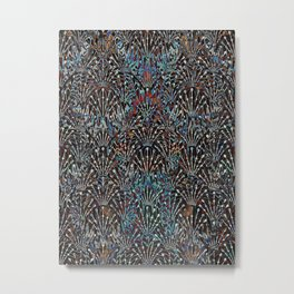 Abstract Spiked Floral Pattern Metal Print