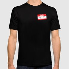 Hello My name is... Black Mens Fitted Tee MEDIUM